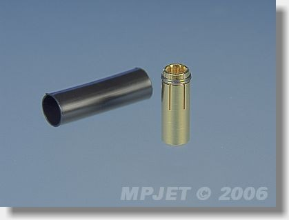 Connectors MP JET gold 2,5 mm dia for cable 2,5 mm2 - socket