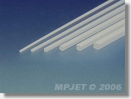 PS square strip 2,5x2,5 mm, length 330 mm