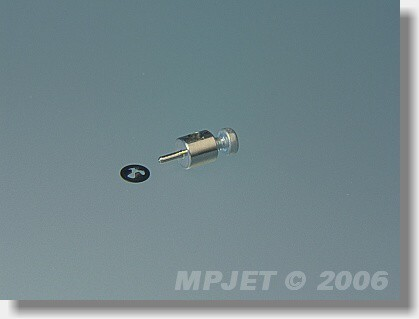 Micro screw-lock pushrod connector Snap 1 mm dia