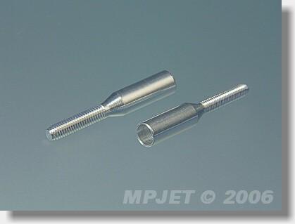 Aluminium couplers for carbon tube 5 mm/M4 right thread