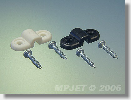 Landing gear clamp for wire 3 mm dia