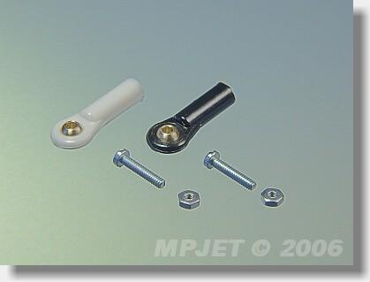 Ball link V1 type, 4 mm dia, M2/1,6