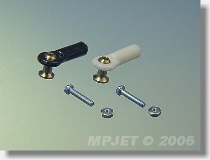 Ball link V1 type, 4 mm dia, M2/1,6 long