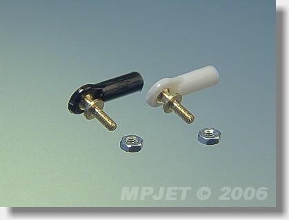 Ball link V1 type, 4 mm dia, M2/M2 short