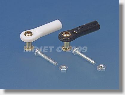 Ball link V1 type, 5 mm dia, M2,5/2 long