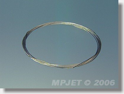Stainless steel cable 0,7 mm dia