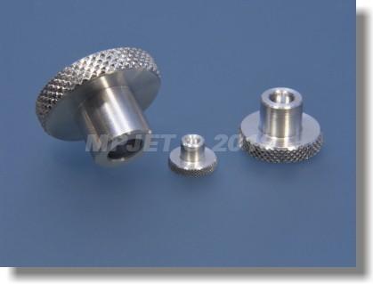 Aluminium knurled nut M2