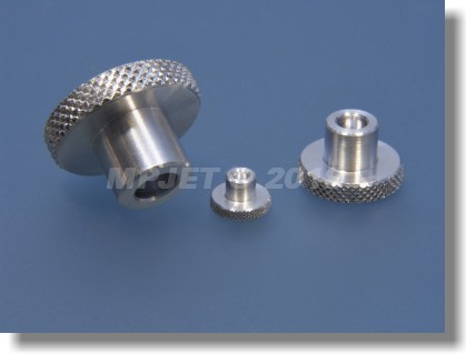 Aluminium knurled nut M6