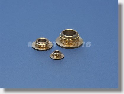 Brass plain bearing with flange 3 mm dia