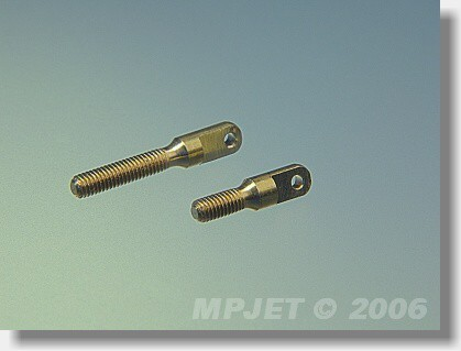 Brass control horn M2,5/1,5 short (for clevises MPJ...
