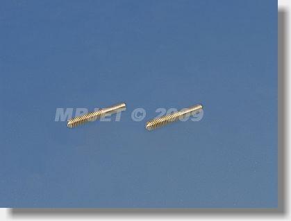 Threaded coupler M2, hole 1 mm dia (OD 1,7, length 13,8 mm)