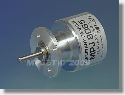 Planetary gearbox 3,8:1, shaft 3,2 mm dia, for Speed 400