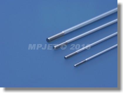 Pushrod 3 mm dia, M3, length 100 mm