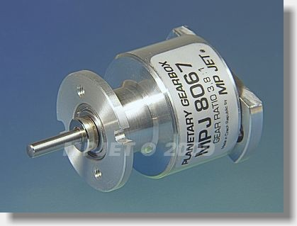 Planetary gearbox 3,8:1, shaft 3,2 mm dia, for Speed 500,...