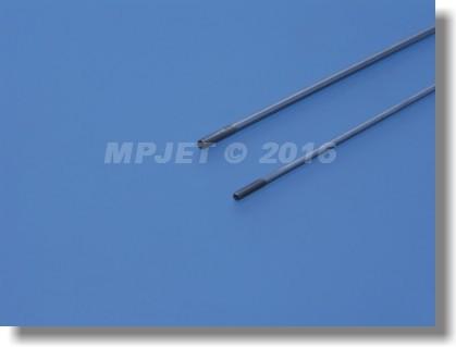 Steel pushrod 2,6 mm dia, M3, length 290 mm