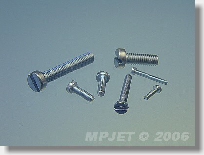 Pan head screw M1,6x8