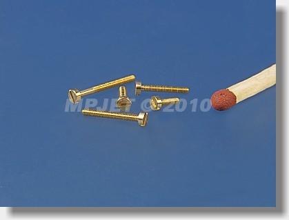 Brass Cheesehead screw M1,2x10