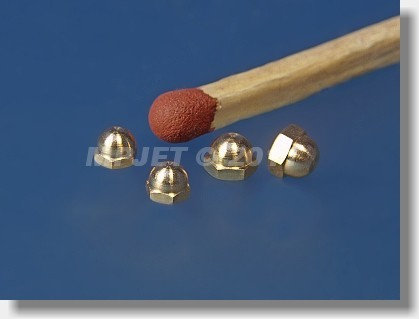 Brass hexagonal dome nut, M1,4