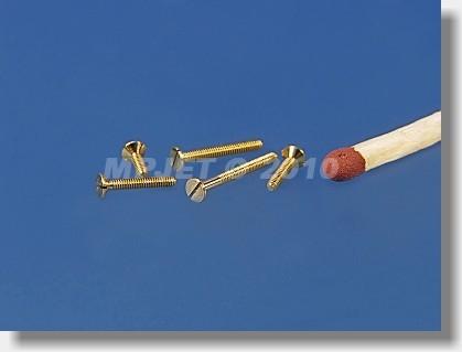 Brass Countersunk head screw M1,2x8