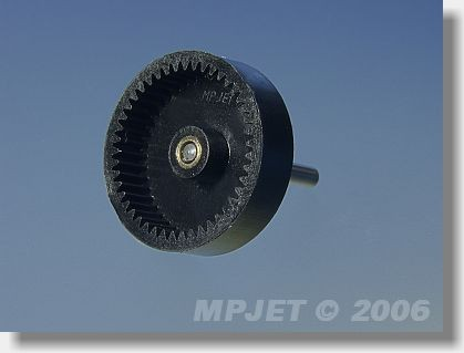 Main gear with shaft for 400, 480, gear ratio 3-4,1:1,...