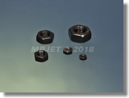 Hexagonal nut M6 - blackened