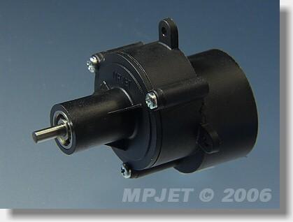 """Gearbox  """"400"""" BB 2,33:1, pinion wheel 2,3 mm dia"""