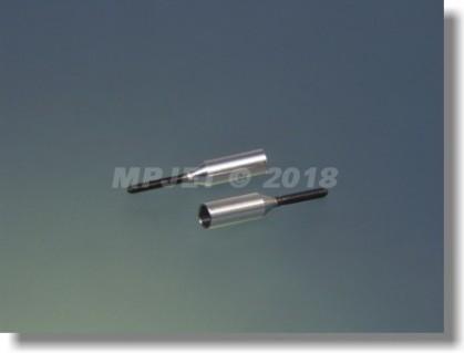 Aluminium couplers for carbon tube 4 mm/M2