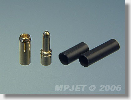 Connectors MP JET gold 2,5 mm dia, for cable 2,5 mm2 - set