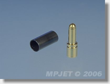 Connectors MP JET gold 2,5 mm dia, for cable 2,5 mm2 - pin