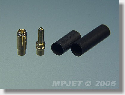 Connectors MP JET gold 3,5 mm dia, for cable 2,5 mm2 - set
