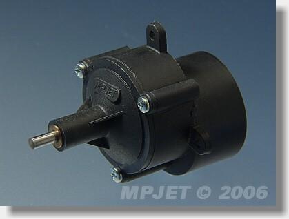 "Gearbox  ""400"" STD 2,33:1, pinion wheel 2,3 mm dia"