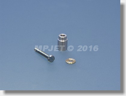 Counter bearing shaft - for M2,5 screw and ball bearing...