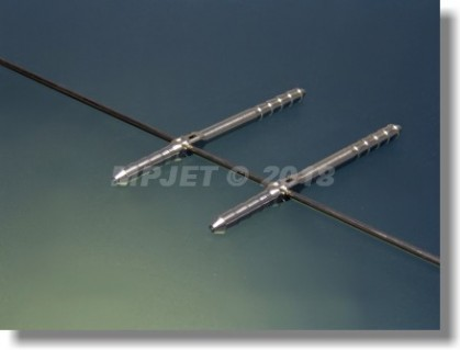 Pin type hinge Al, 4,5x77 (27+50), to wire