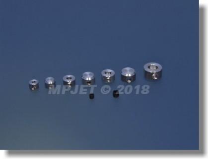 Aluminium blind wheel collar 4 mm