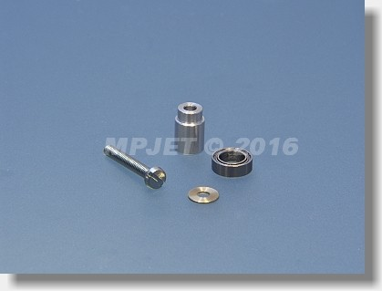 Counter bearing shaft - for M2,5 screw, including ball...