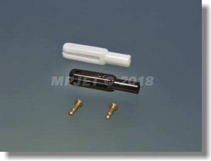 Plastic clevis, length 26 mm, slot width 26, pin 1,6 mm...