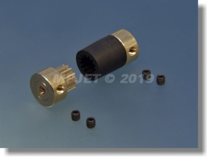 FLEXI shaft coupler 12, 4/2,3, total length 25 mm