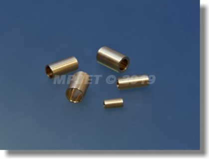 Brass sleeve 3H7, OD 4 mm, length 10 mm