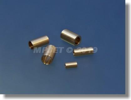 Brass sleeve 5H7, OD 6 mm, length 10 mm