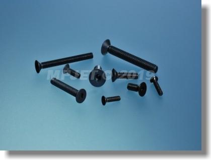 Hex socket flat countersunk head screw M4x12