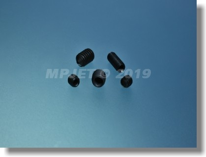 Hexagon socket set screw with cone point M4x4