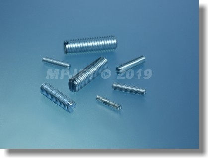 Slotted set screw with flat point M2x10