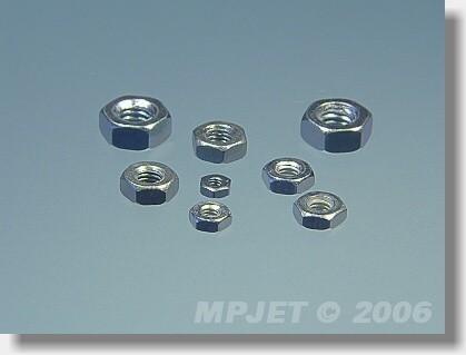 Hexagonal nut M2,3