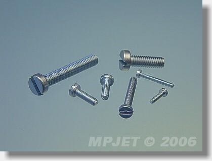 Pan head screw M2,3x10