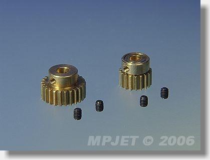 Pinion wheel 21 teeth, 3 mm dia, module 0,4