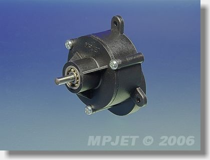Gearbox BB 5:1 for AC 25/25, pinion wheel 2 mm dia