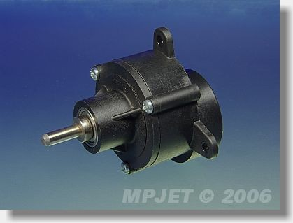 Gearbox BB 2,8:1 for AC 26/45, pinion wheel 4 mm dia