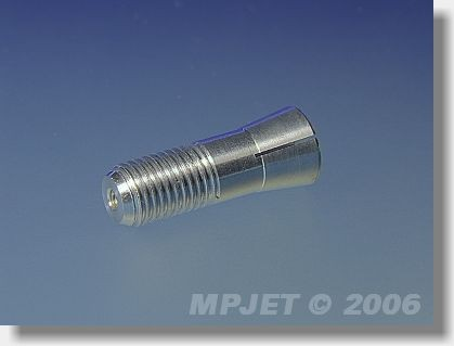 Collet for metal spinner 3 mm dia, M8x1 for middlepart...