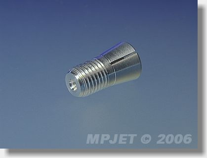 Collet 4 mm dia, M8x1 for middlepart size 12x8