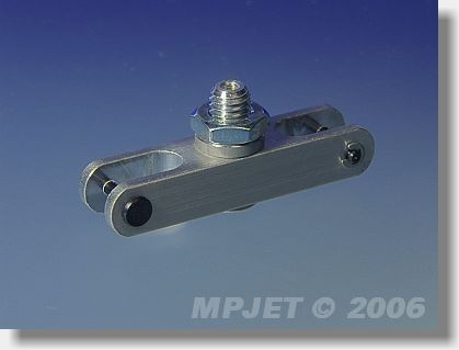 Aluminium middlepart hub (pitch 40; 10x8; slot 6; pin 2;...